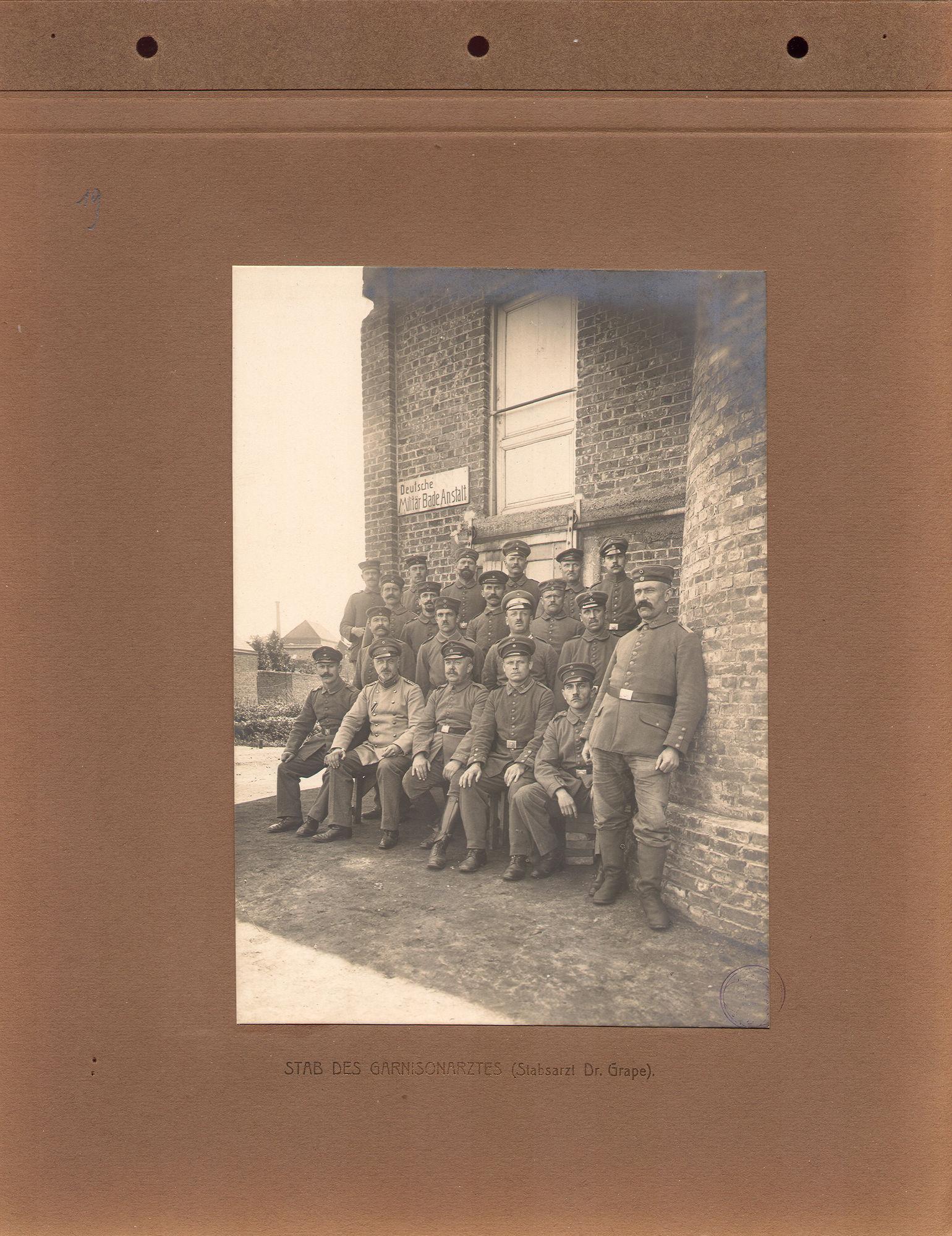 Duitse garnizoensarts tijdens Wereldoorlog I