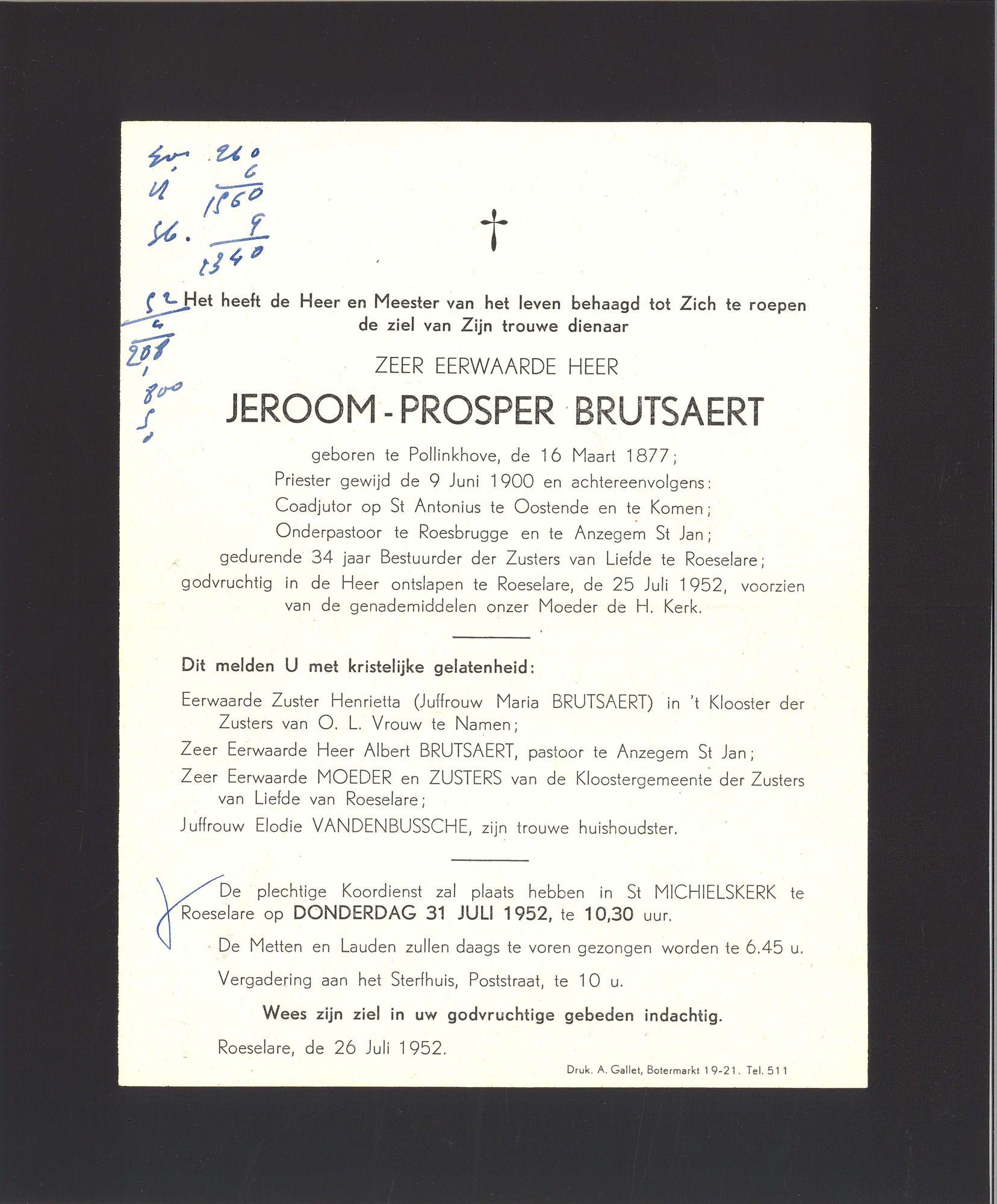 Jeroom-Prosper Brutsaert