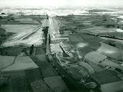Kanaal Bossuit-Kortrijk met nieuwe sluis te Moen 1973