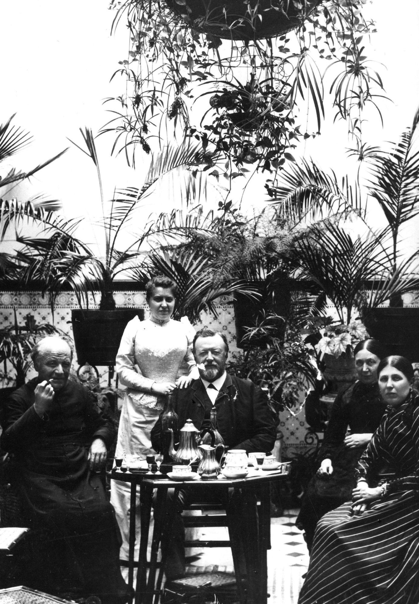 Guido Gezelle bij Camille Vercruysse en zijn echtgenote Elisabeth Van den Broeck
