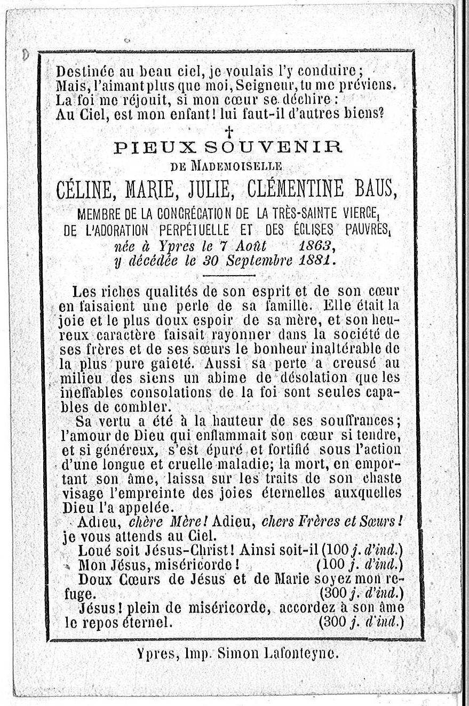 Céline Marie Julie Clémentine Baus