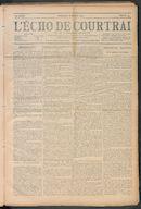 L'echo De Courtrai 1910-01-16 p1