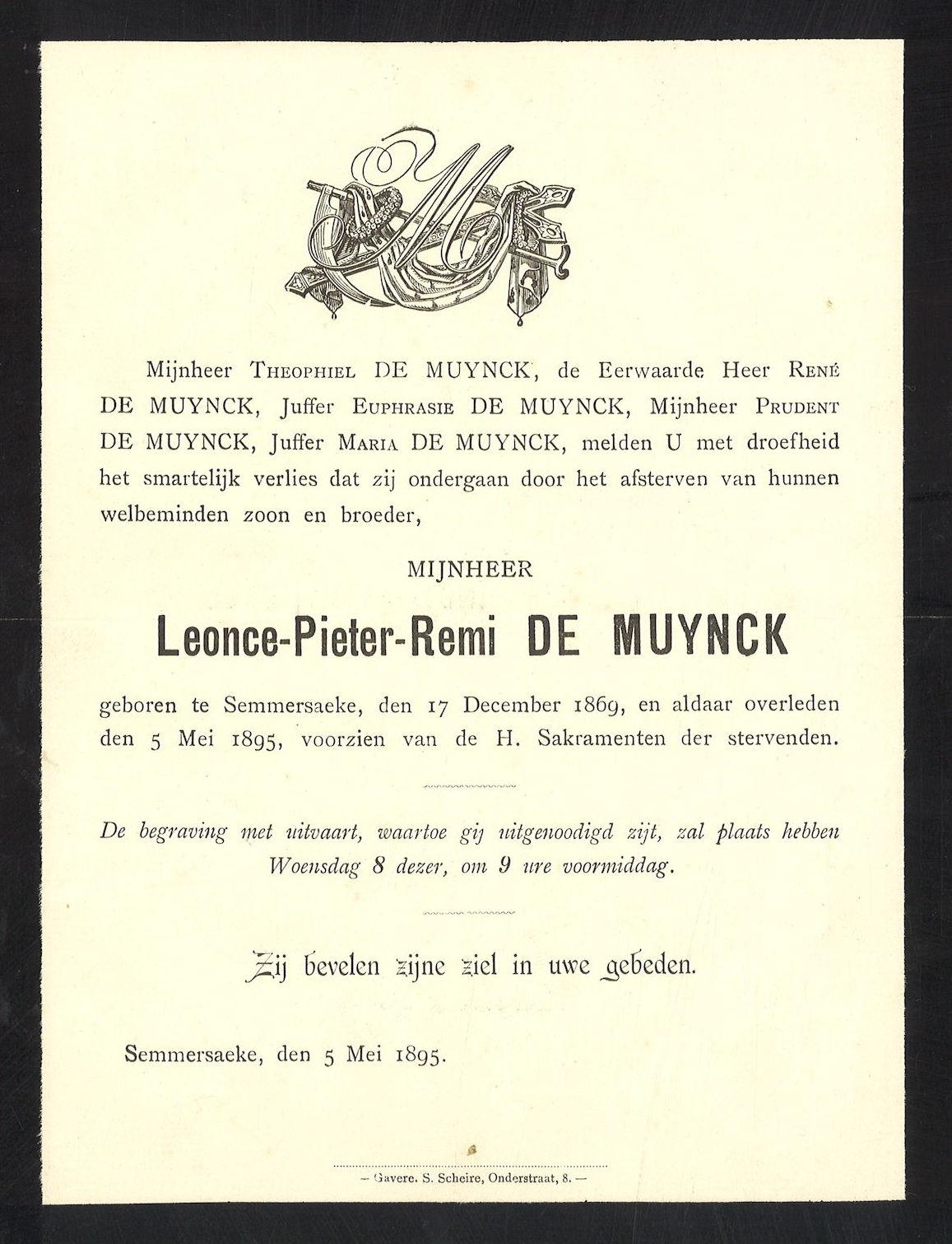 Leonce-Pieter-Remi De Muynck