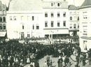 Turnfeesten op de Grote Markt in 1884