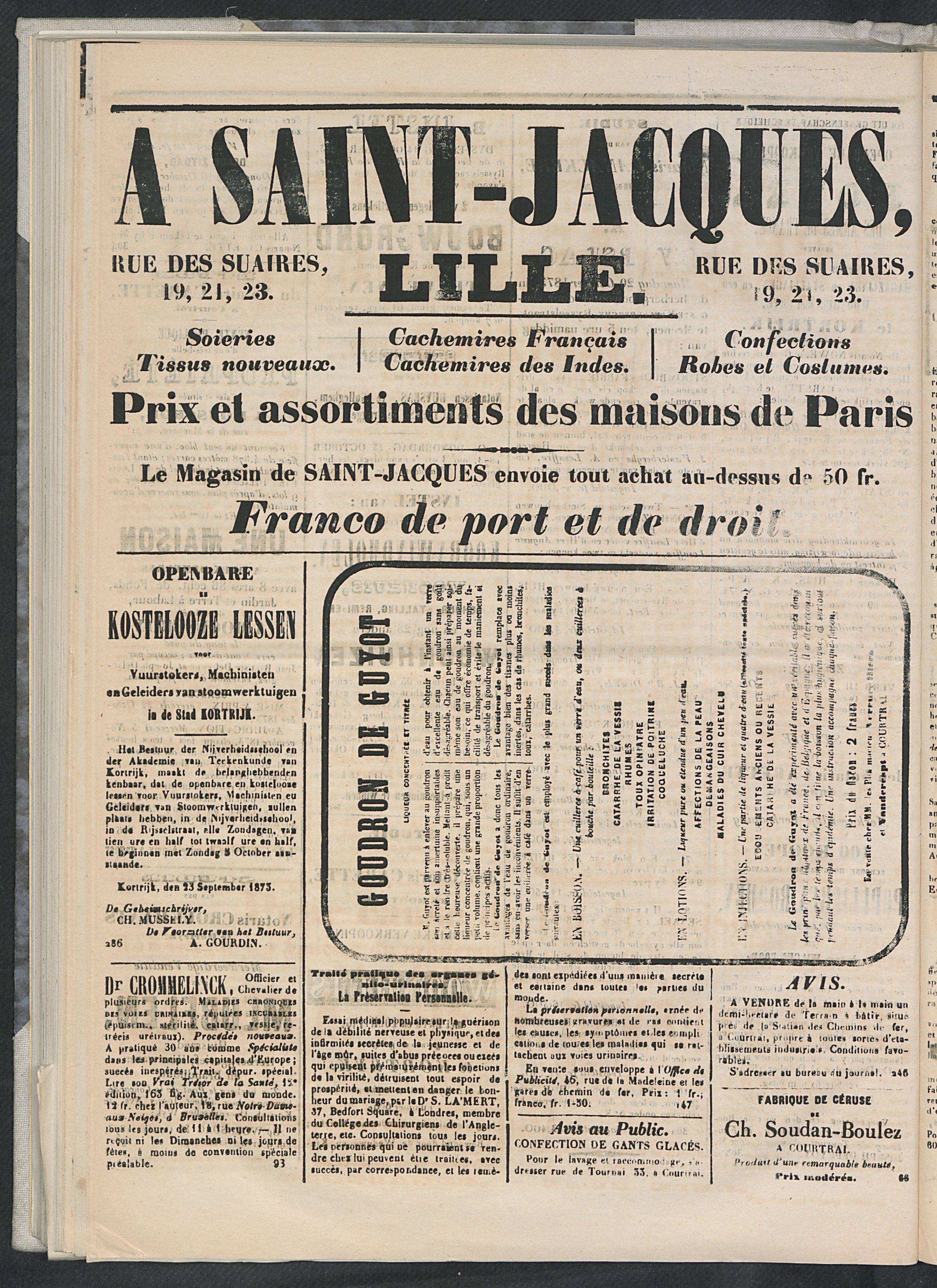 L'echo De Courtrai 1873-10-12 p4
