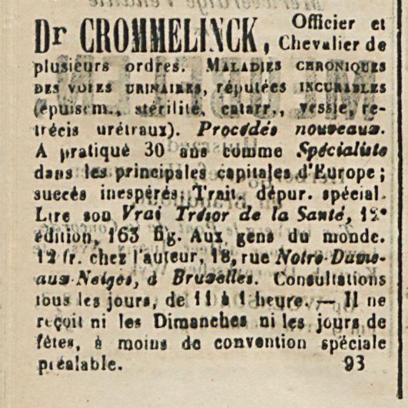 Dr .CROMMELINCK