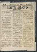 Petites Affiches De Courtrai 1842-06-15
