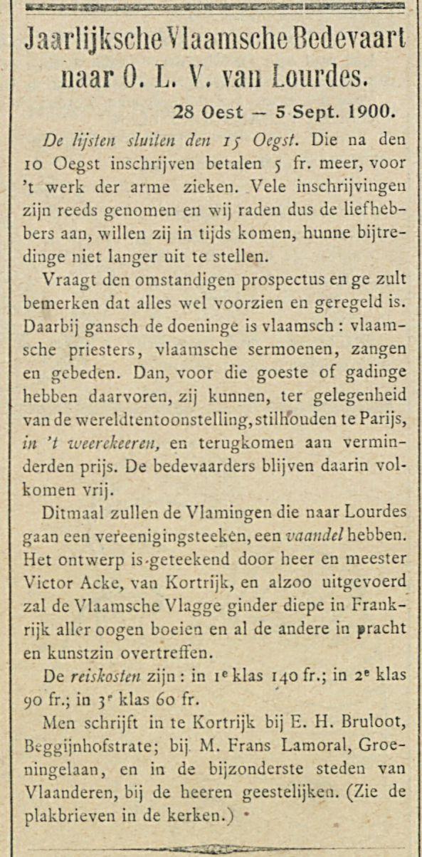 Jaarlijksche Vlaamsche Bedevaart