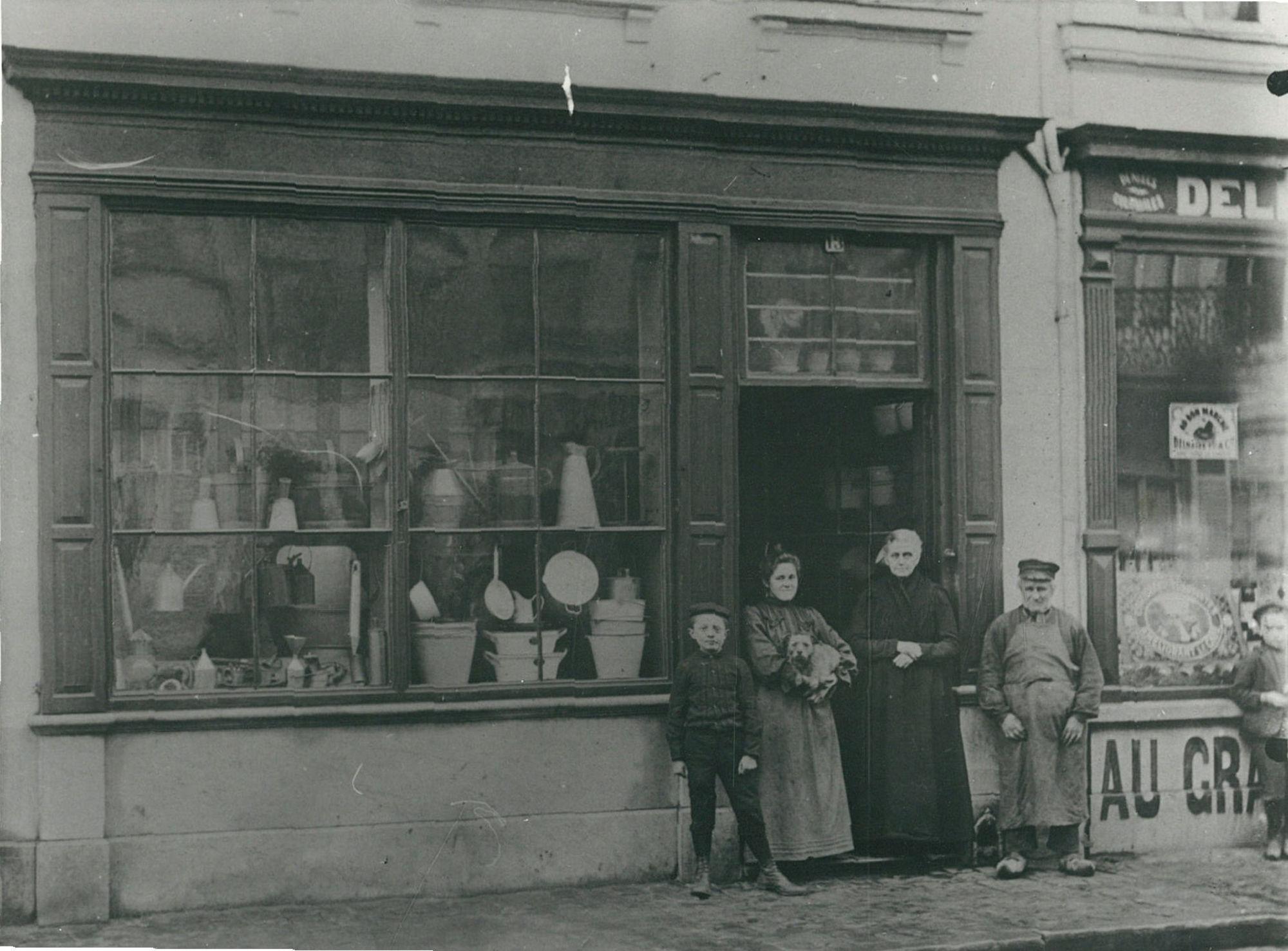 De Boerenwinkel in de Overleiestraat, 1904