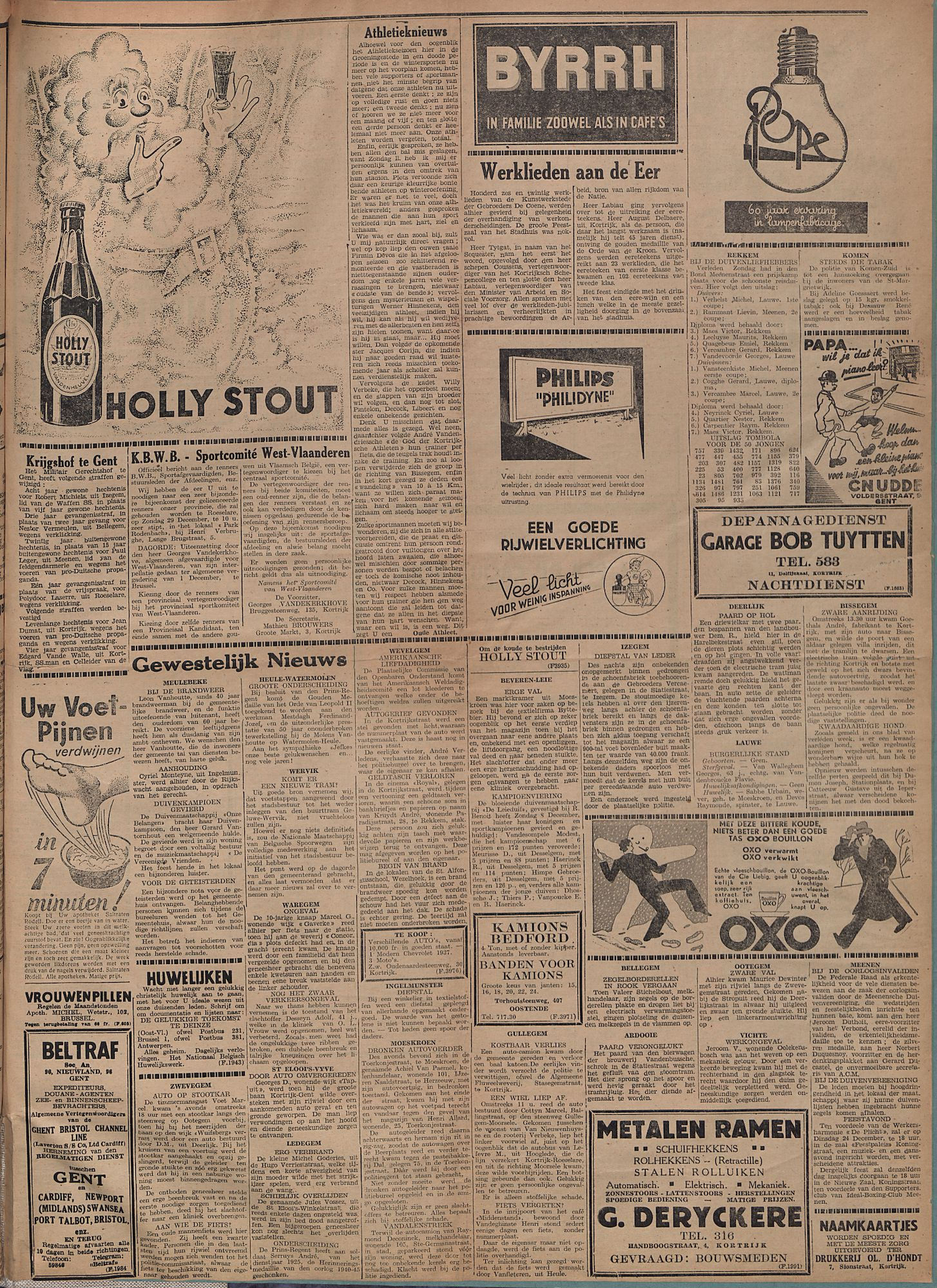 Kortrijksch Handelsblad 27 december 1946 Nr104 p3
