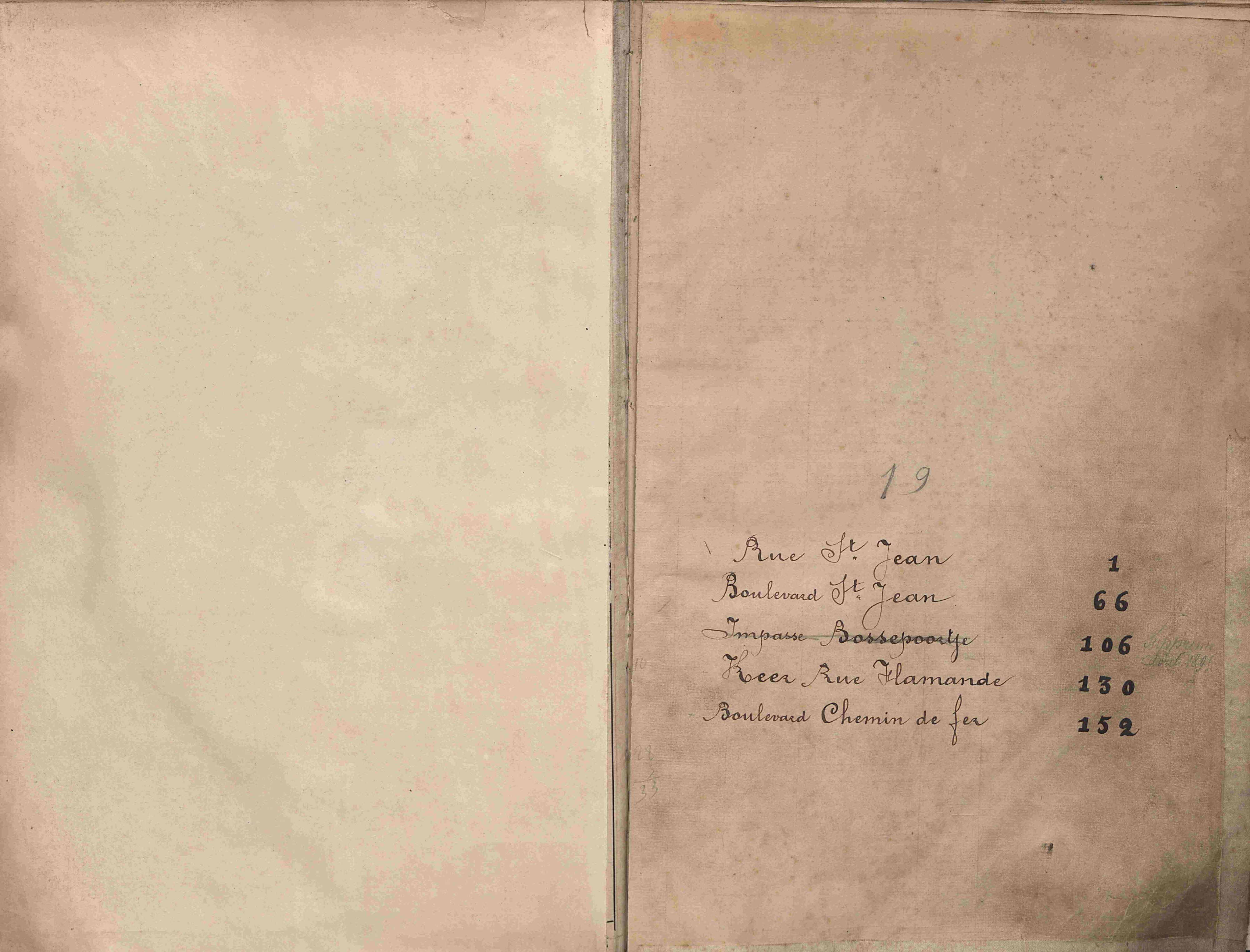 Bevolkingsregister Kortrijk 1890 boek 19