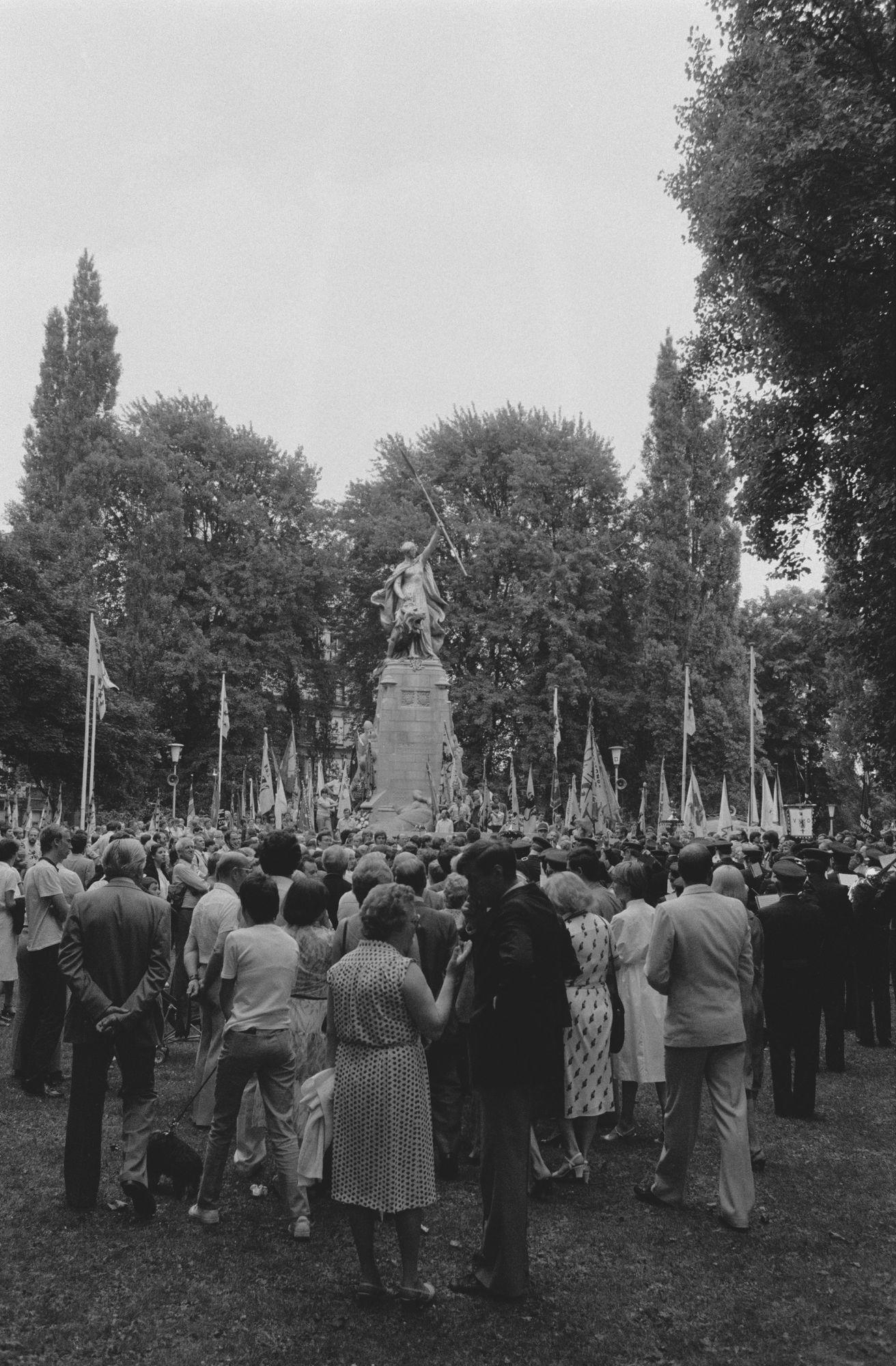 Herdenkingsplechtigheid tijdens de 11 juliviering