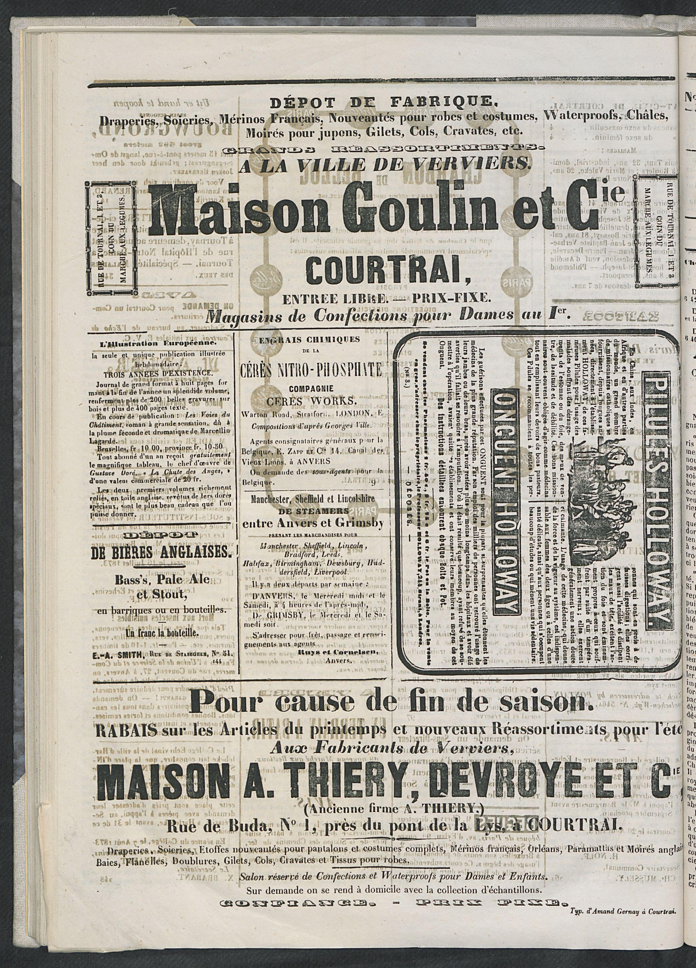 L'echo De Courtrai 1873-08-28 p4