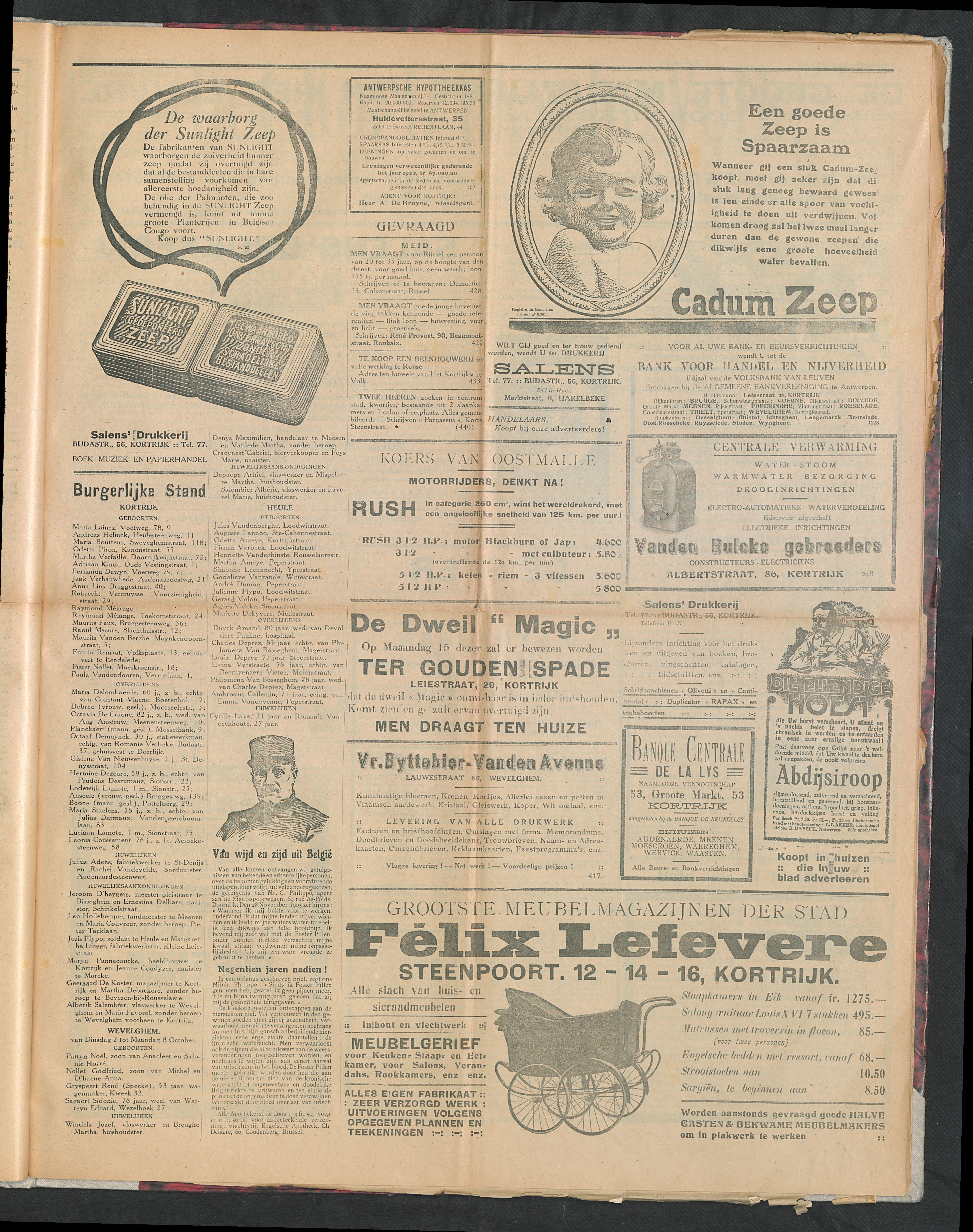 Het Kortrijksche Volk 1923-10-14 p3