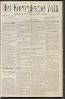 Het Kortrijksche Volk 1910-02-20 p1
