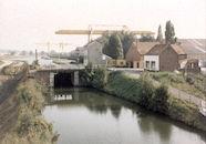 Oude sluis Nr. 7 op het Kanaal Bossuit-Kortrijk aan de Deerlijkstraat in Zwevegem 1987