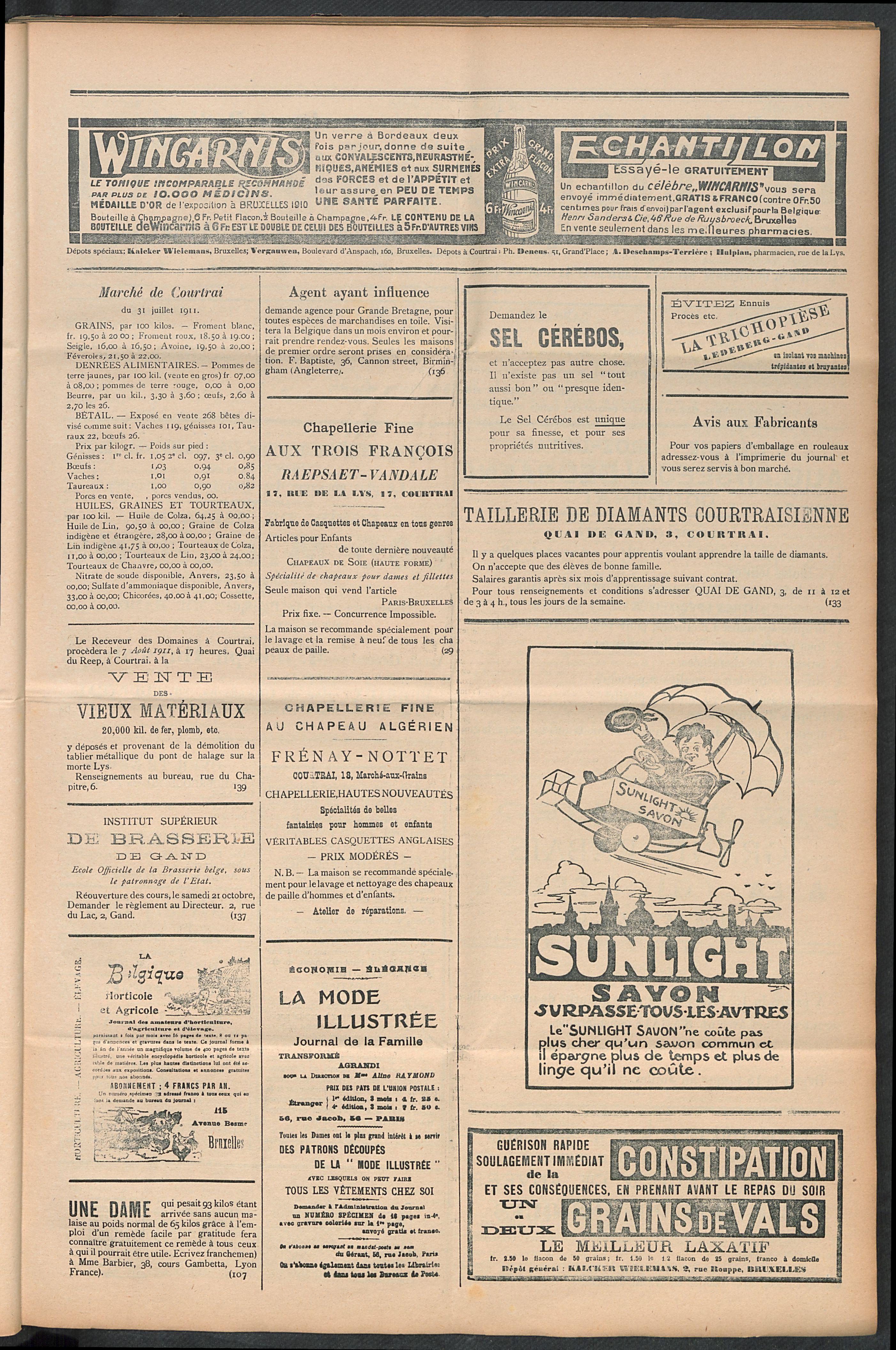 L'echo De Courtrai 1911-08-03 p3