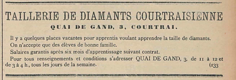 TAILLERIE DE DIAMANTS COURTRAISIENNE