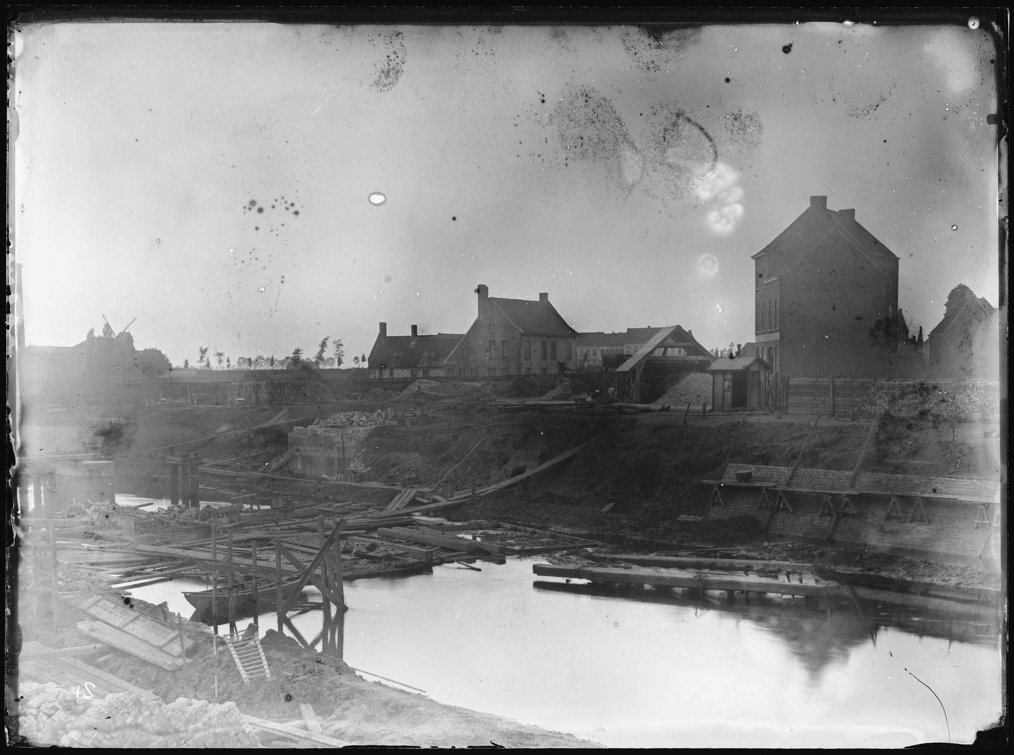 Afbraak Noordbrug in 1892