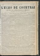 L'echo De Courtrai 1881-09-11