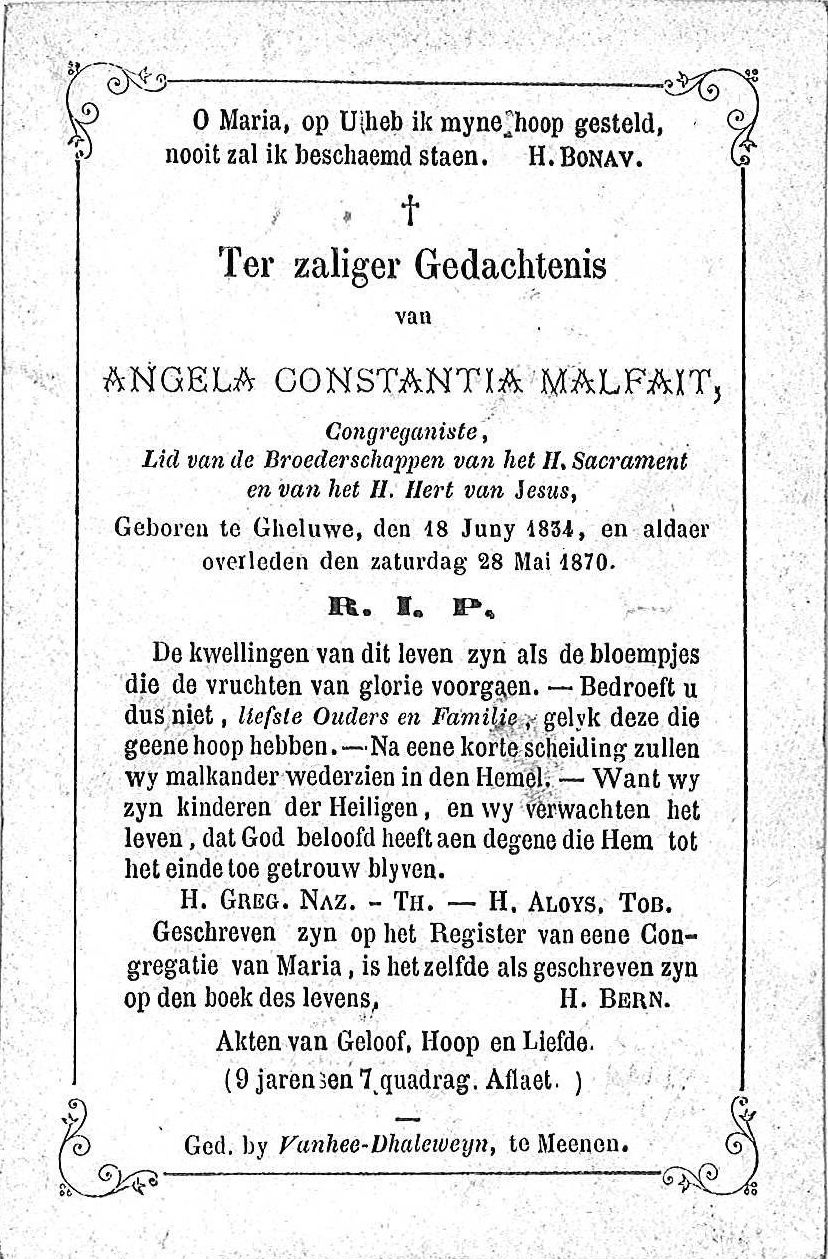 Angela Constantia Malfait