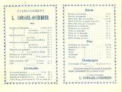 Paasfoor: Prijslijst wafels, appelbeignets consommaties bij L. Consael-Overmeer
