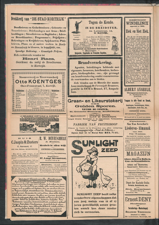 De Stad Kortrijk 1911-10-14 p4