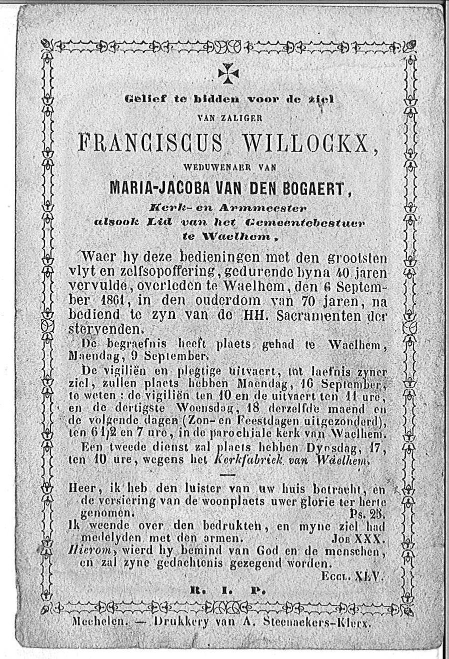 Franciscus Willockx