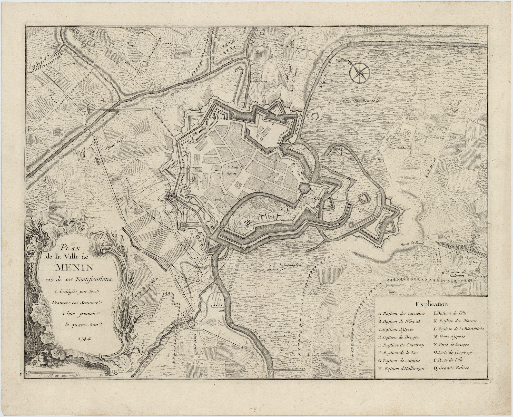 Westflandrica - Het beleg van Menen op 4 juni 1744