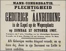 Plechtigheden Kongregatiekapel 1907