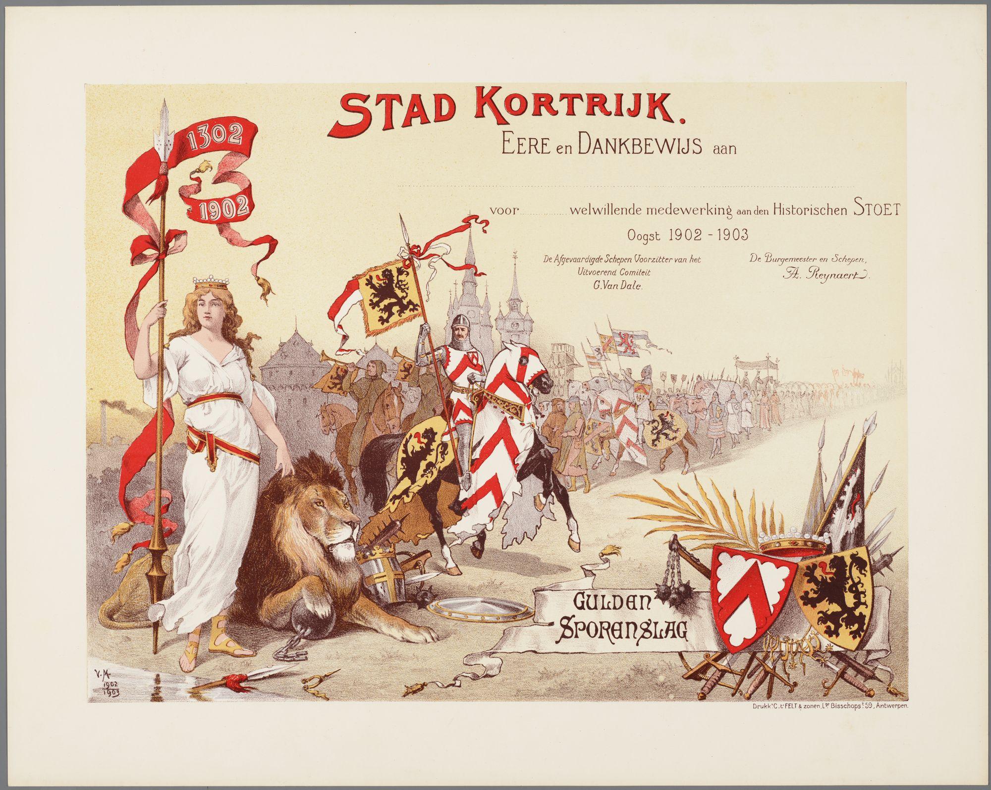 Guldensporenviering 1903