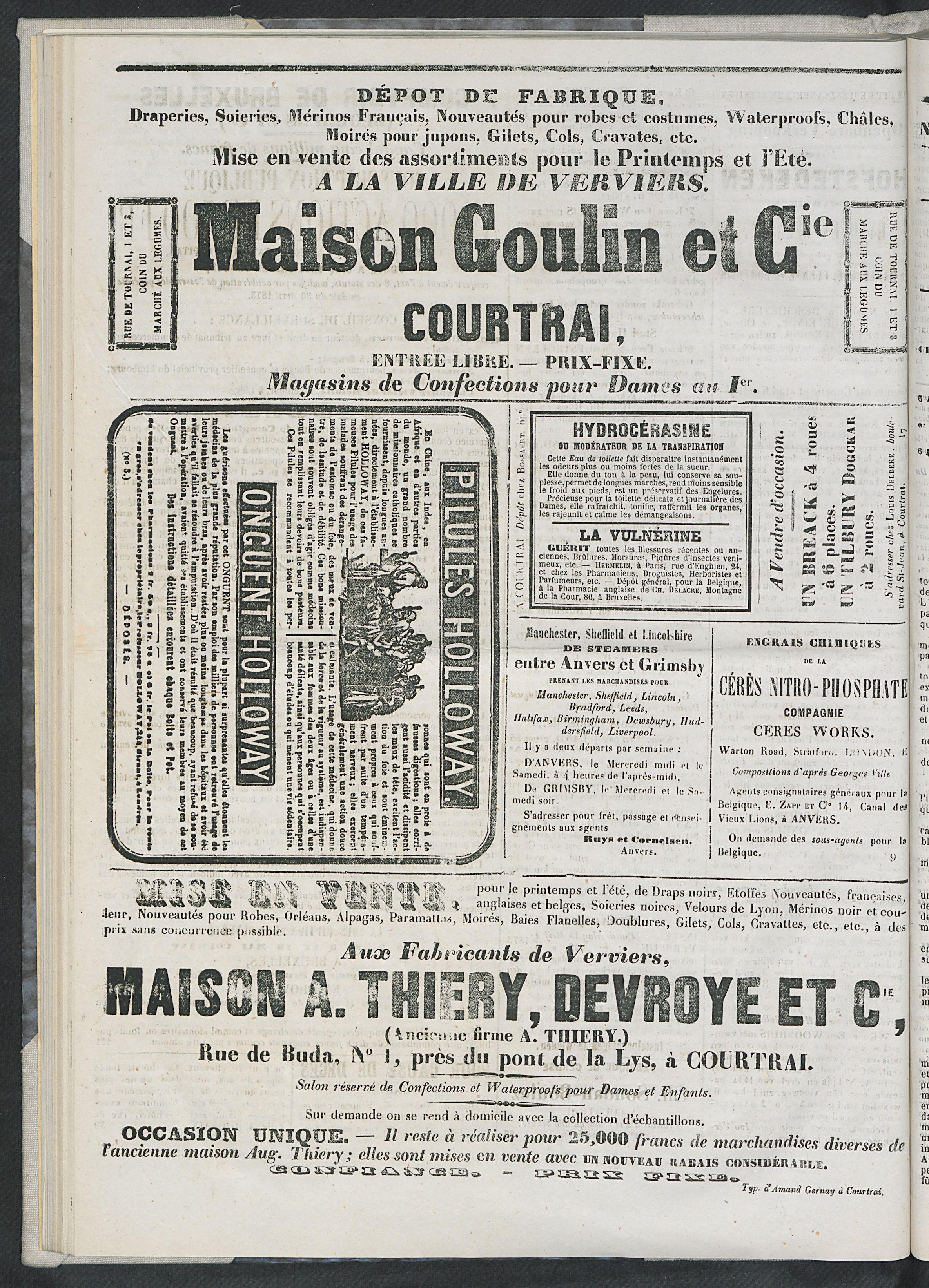 L'echo De Courtrai 1873-05-08 p4