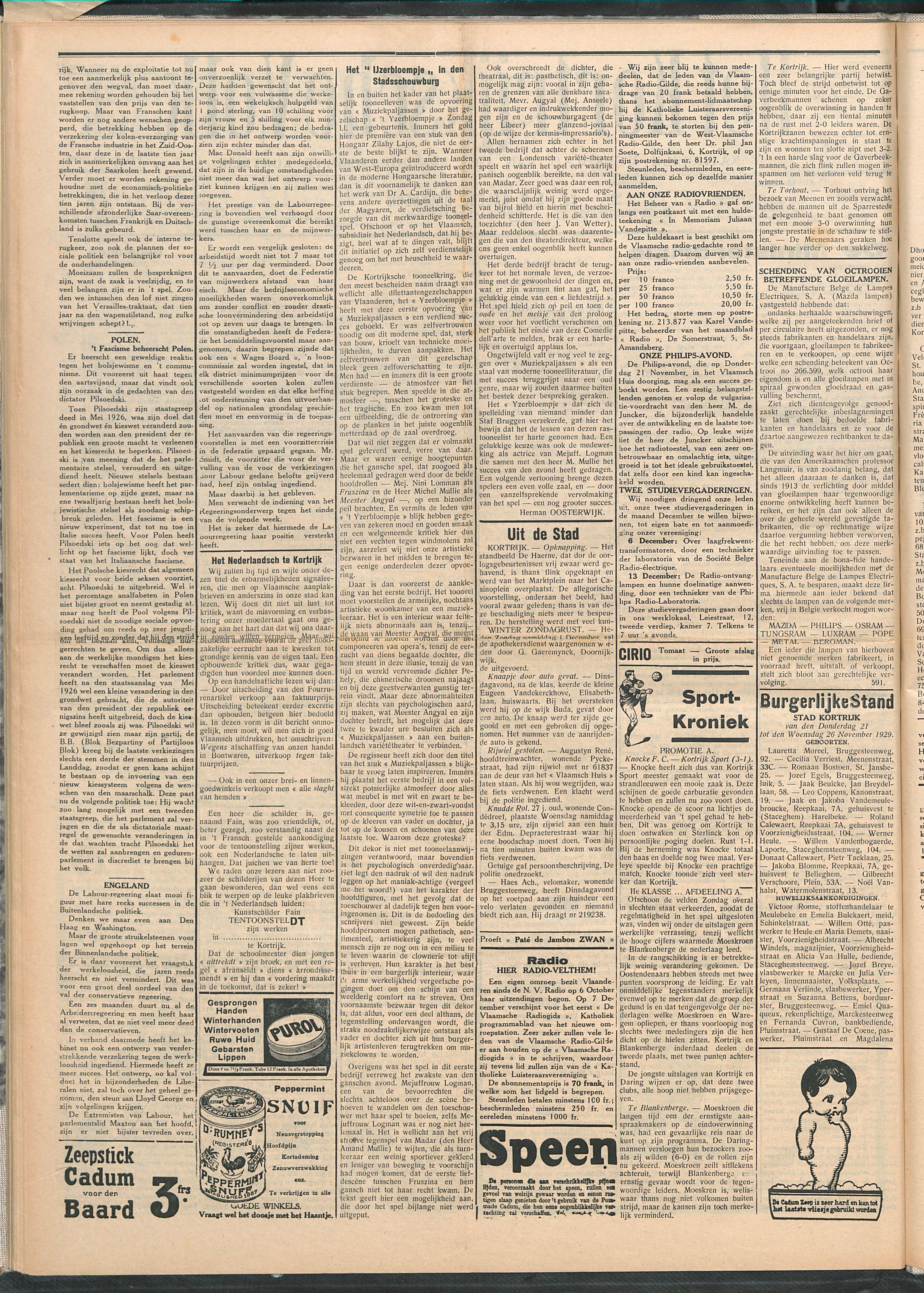 Het Kortrijksche Volk 1929-12-01 p2