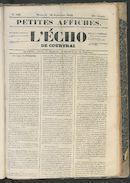 L'echo De Courtrai 1849-09-16
