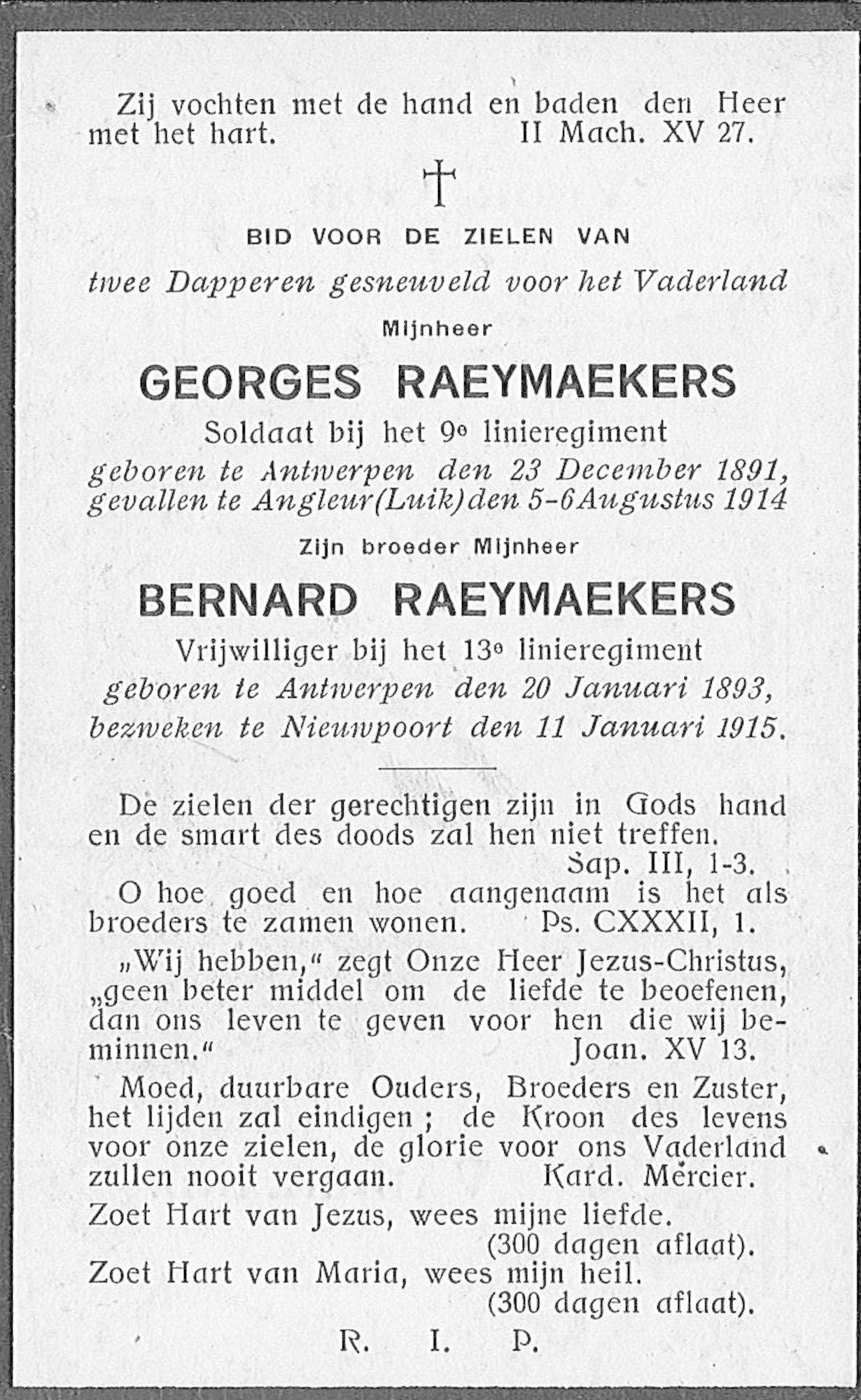 Georges en Bernard Raeymaekers