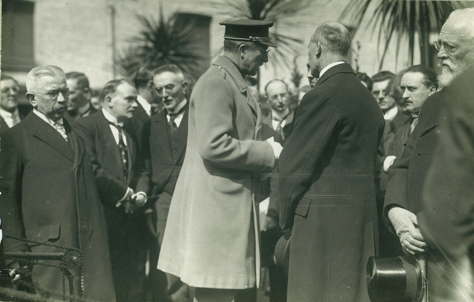 Bezoek van Koning Albert I aan de vakschool op 19 april1929