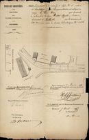 Plannen met aanvragen voor het planten van levende hagen langs de steenweg Kortrijk-Risquons-Tout te Aalbeke, 1855-1857