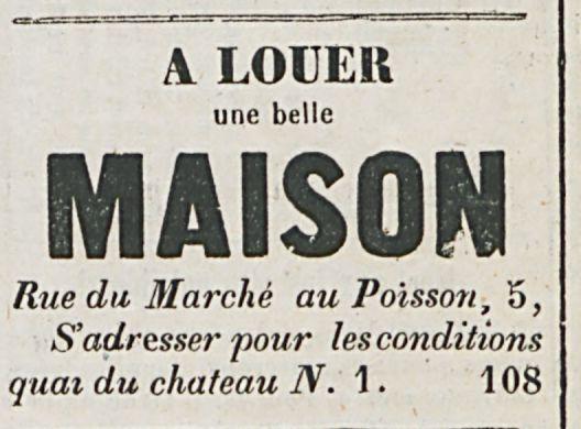 A LOUER MAISON