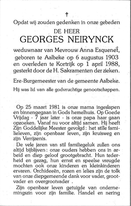 Neirynck Georges