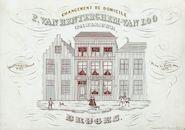 Westflandrica - Firmakaart van de kleermaker Van Renterghem - Van Loo