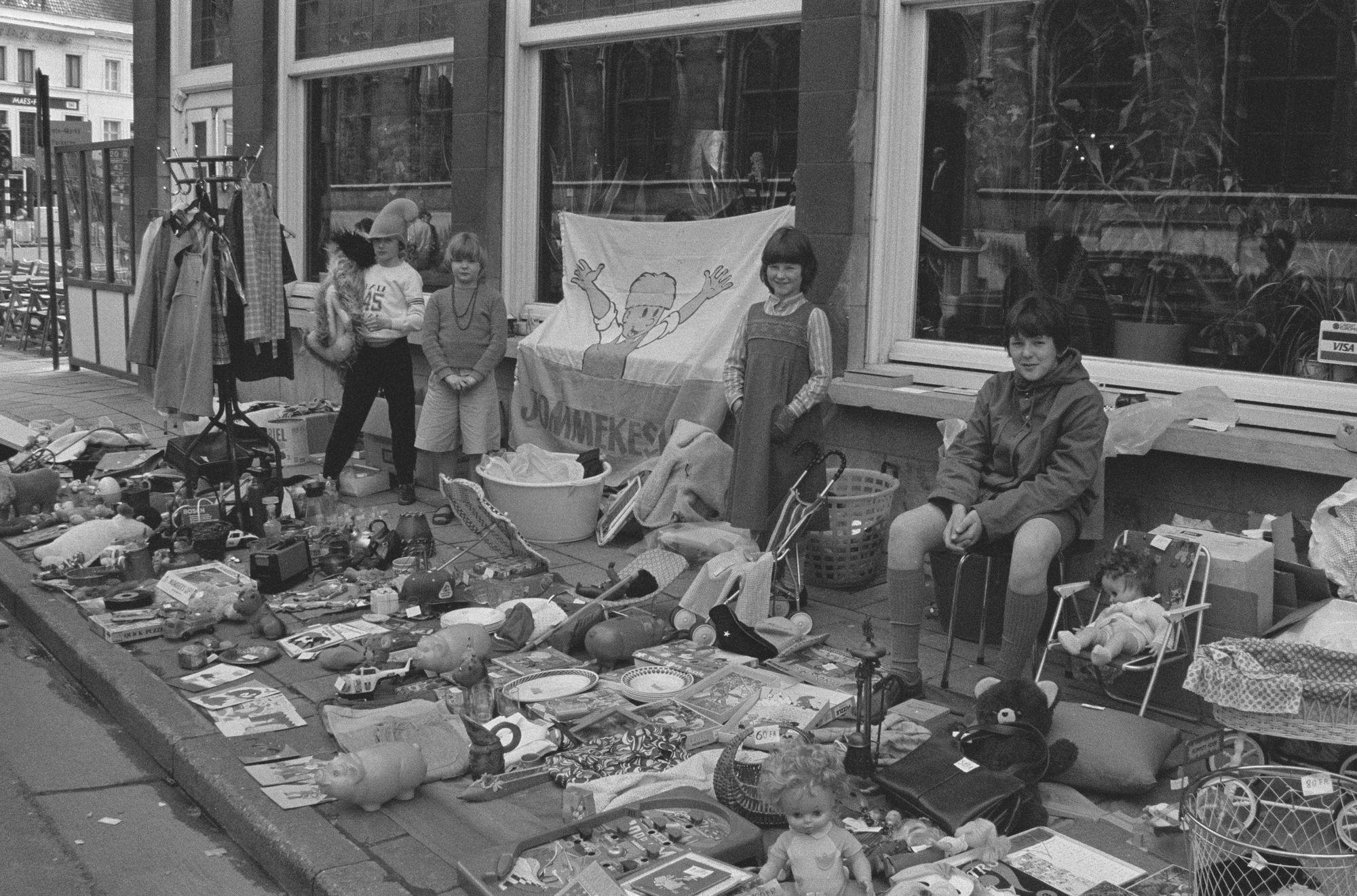 Kinderrommelmarkt tijdens de 9de Sinksenfeesten