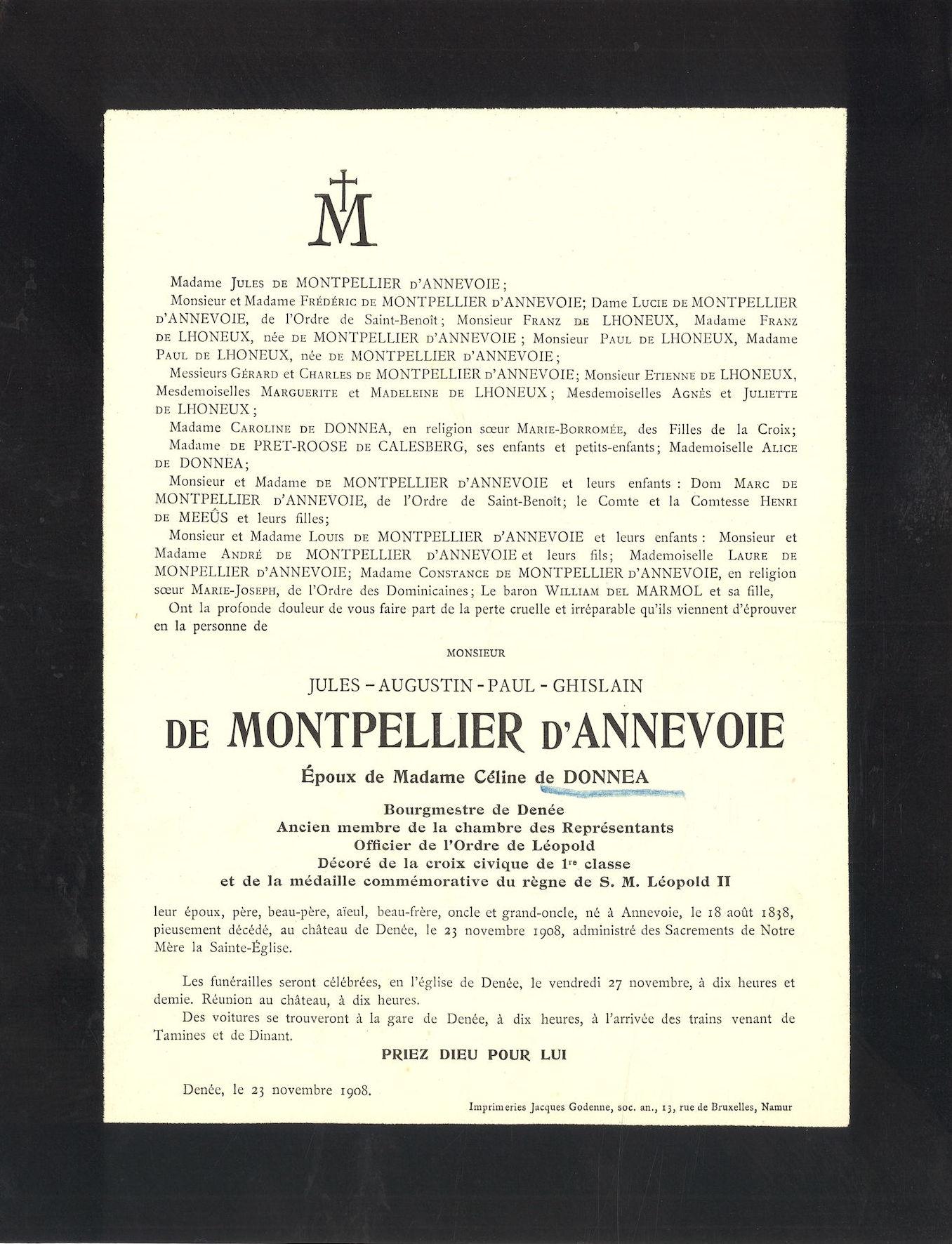 Jules-Augustin-Paul-Ghislain de Montpellier d' Annevoie