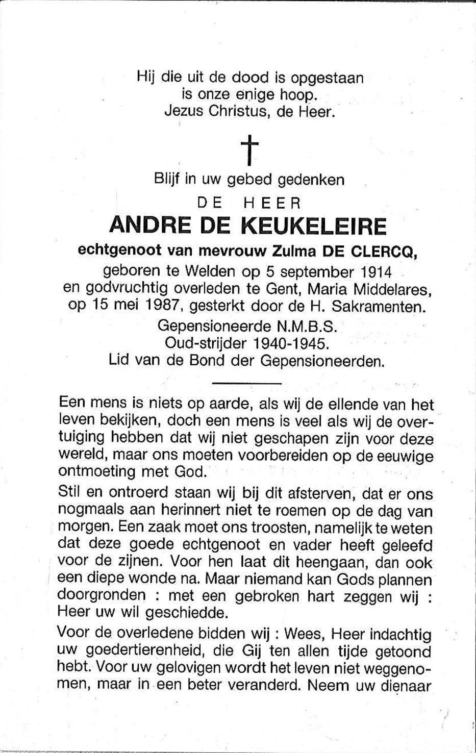 Andre De Keukeleire