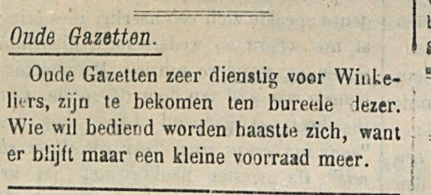 Oude Gazetten