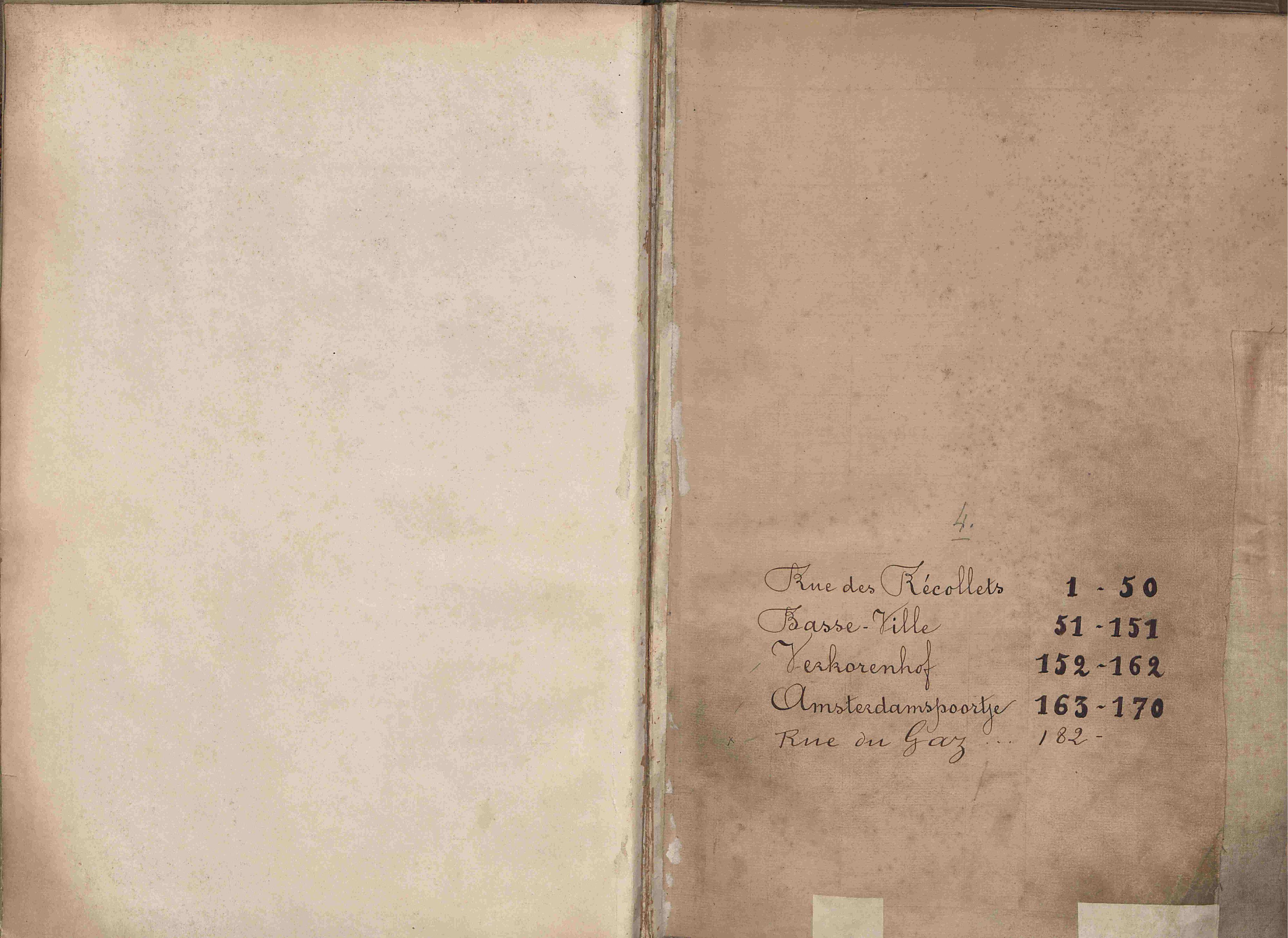 Bevolkingsregister Kortrijk 1890 boek 4