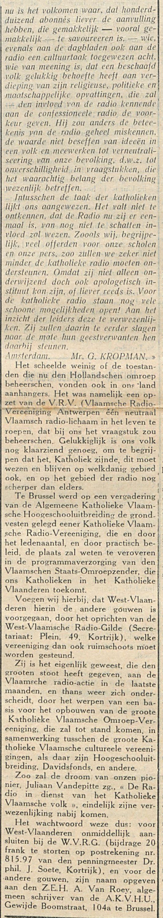De katholieken en de radio-2