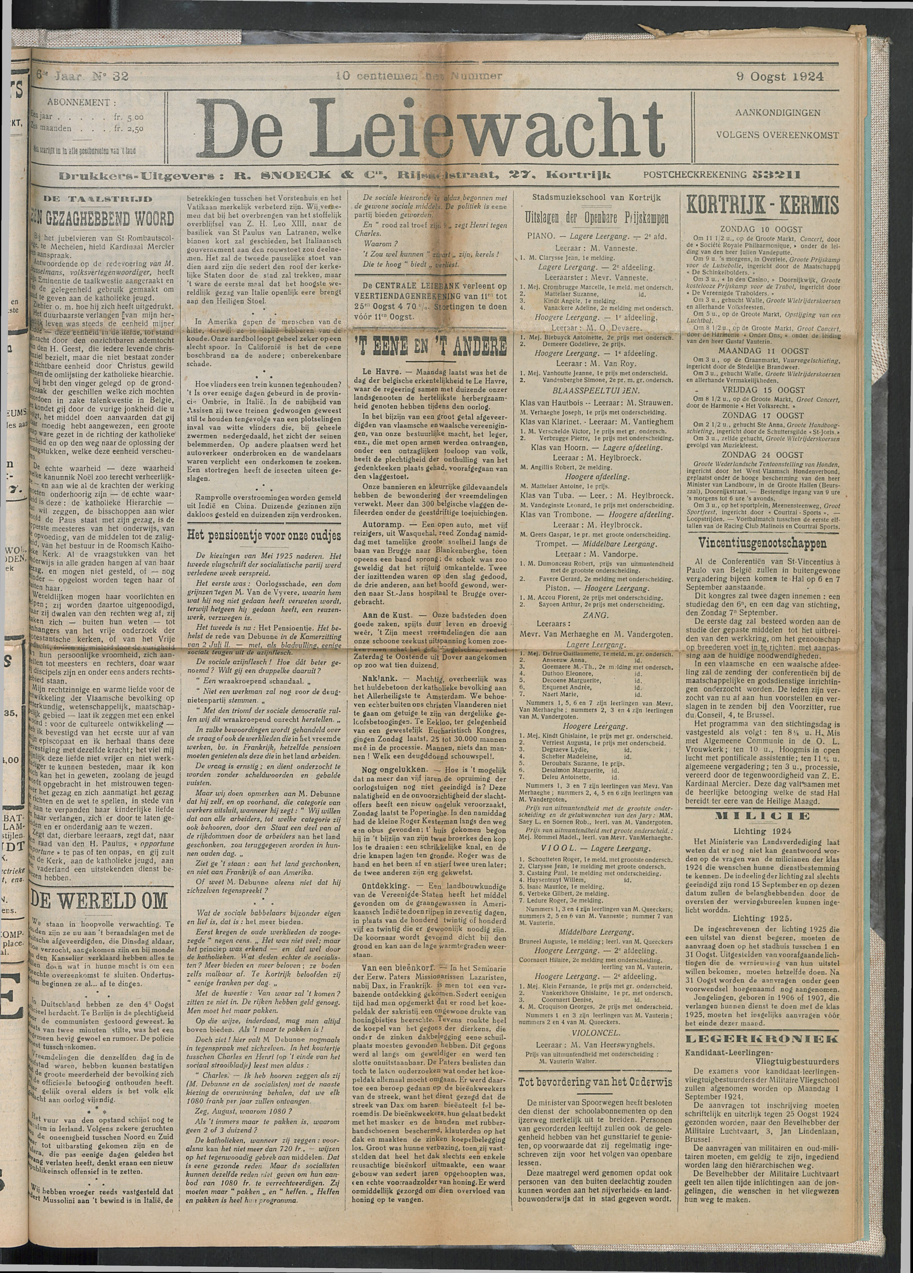 De Leiewacht 1924-08-09 p1