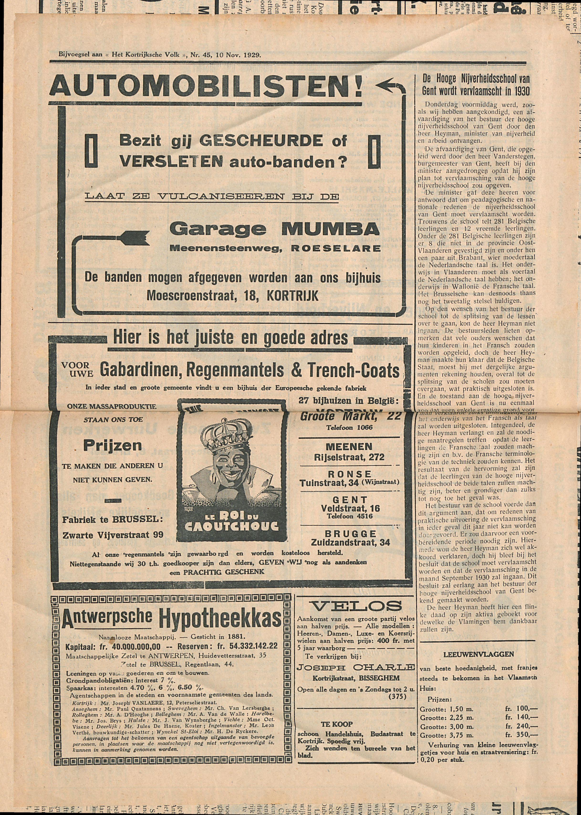 Het Kortrijksche Volk 1929-11-10 p4