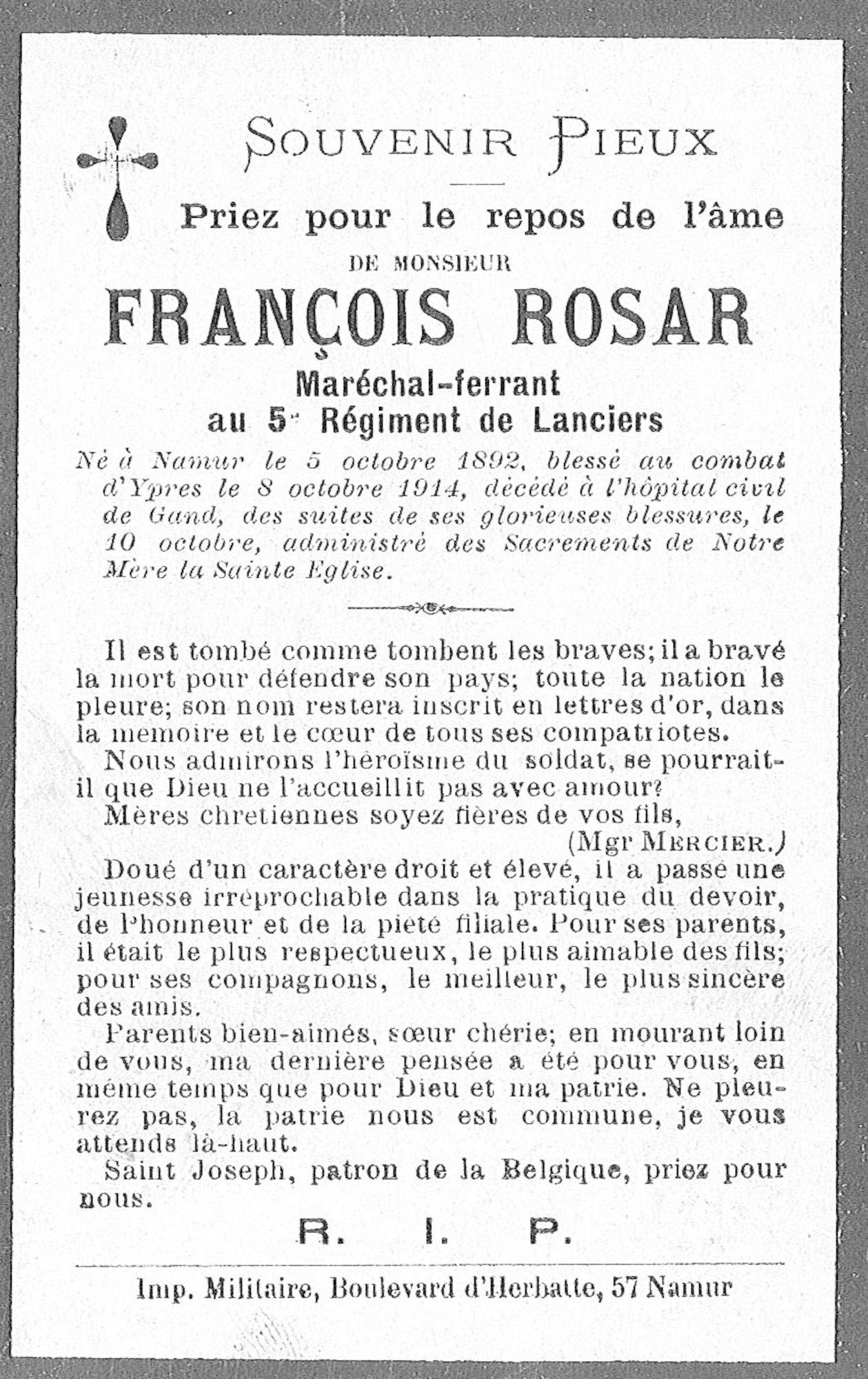 Rosar François