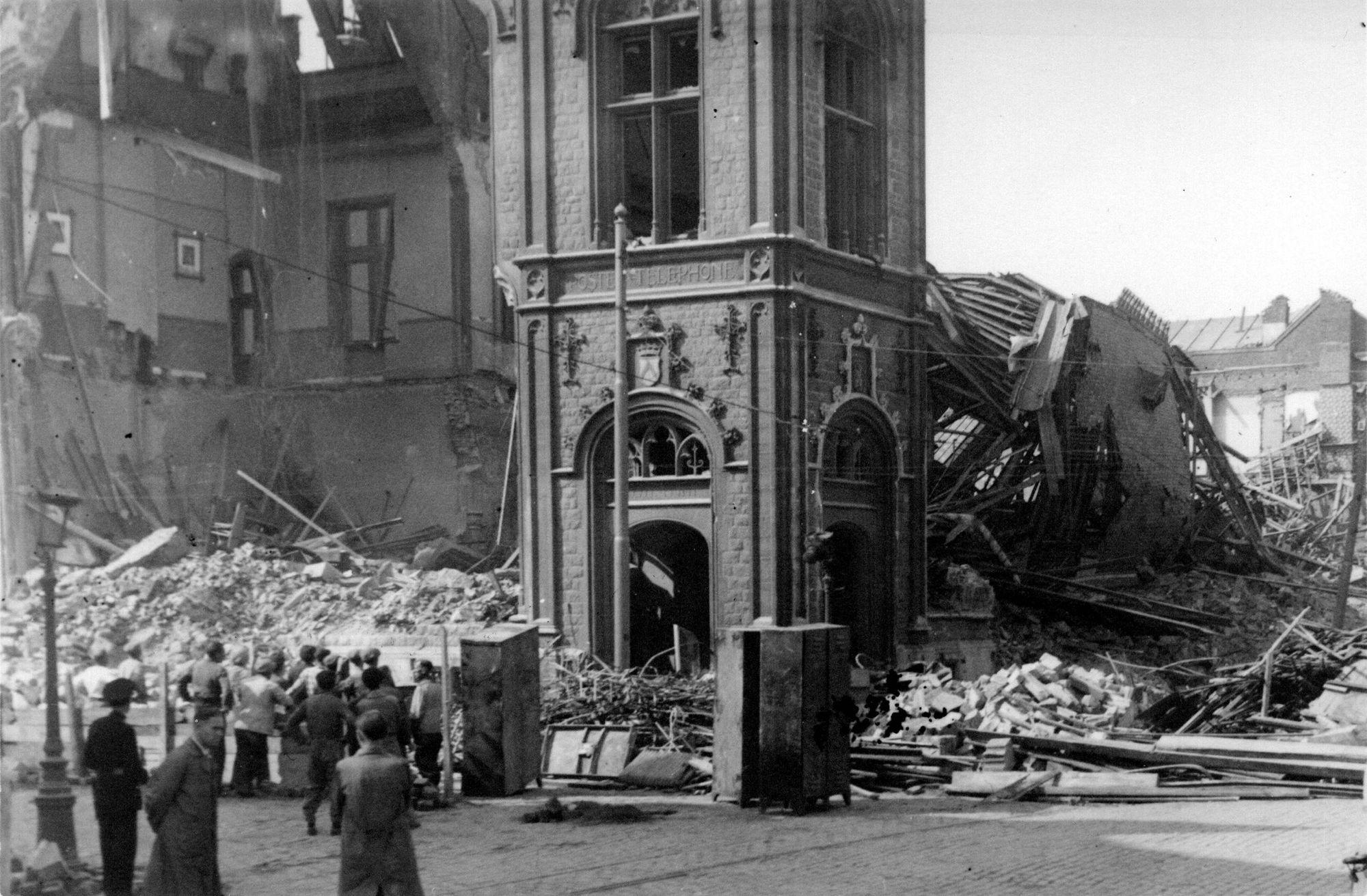 Bombardement postgebouw 21 juli 1944